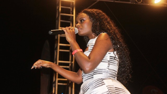 Juliana Kanyomozi performing