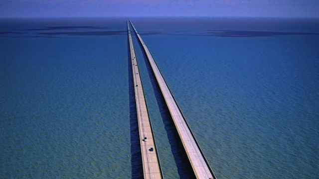 USA: World's longest continuous bridge over water. It spans Lake Pontchantrain in Louisiana, for 23.79 miles.