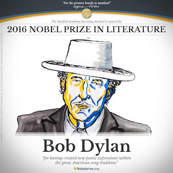 Bob Dylan Has Won the 2016 Nobel Prize in Literature