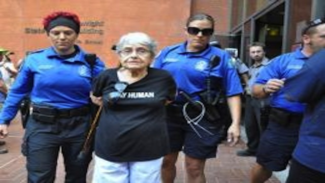 Hedy Epstein Arrested in Ferguson
