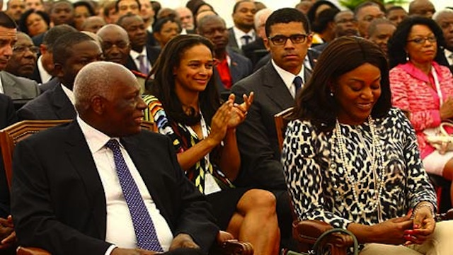 Angolan President Jose Eduardo Dos Santos and daughter Isabel