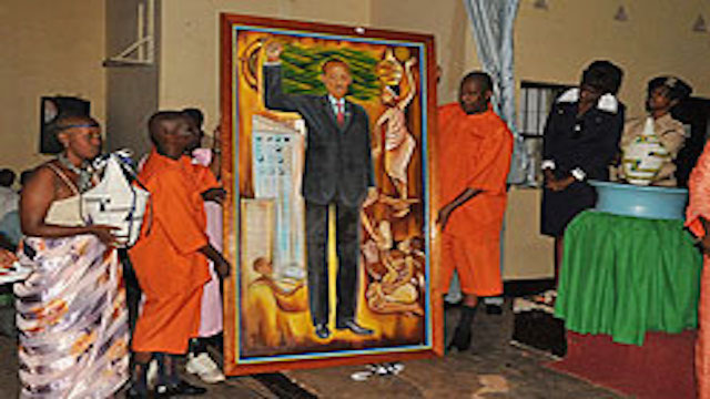Rwandan inmates paint portrait of General Paul Kagame