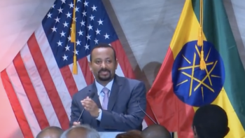 Abiy Ahmed Ali visiting Ethiopian diaspora in the US, August 2018