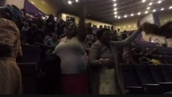 Jubilation at the Zimbabwean's parliament as Robert Mugabe resigns
