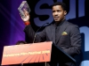 Nate Parker receives award for the Birth of a Nation, at Sundance Festival of 2016