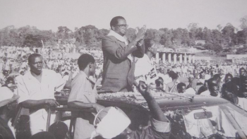 Melchior Ndadaye, Campaigning in 1993, as Presidential Candidate of Burundi.