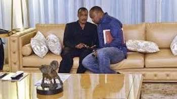 Republic of Congo President Denis Sassou-Nguesso and his son  Denis Christel Sassou-Nguesso